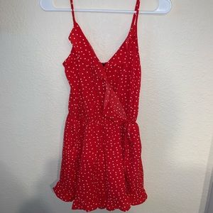 One Clothing Polka Dot Romper Size Small